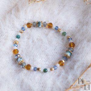 2/50$ bracelet natural agate moss gemstones